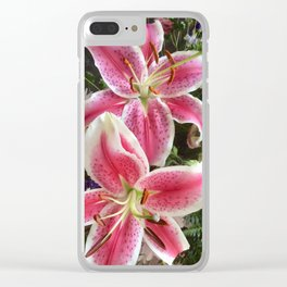 Sweet smelling pink Lillys Clear iPhone Case