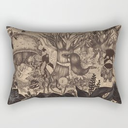 Confessing to the old tree Rectangular Pillow