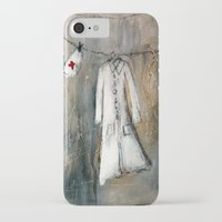nurse iPhone & iPod Cases featuring nurse by woman