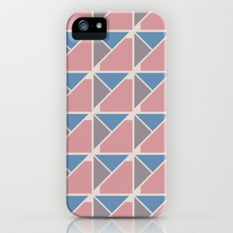 Retro Geometry surface pattern (Blue-pink) iPhone Case