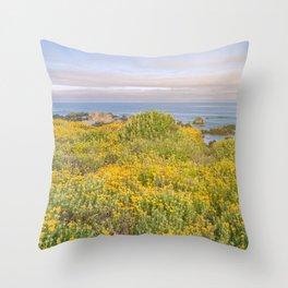 Monterey Wildflowers Throw Pillow