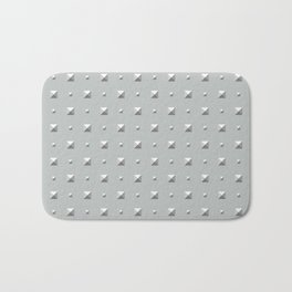 Studded Double Polka Stud on Slate Green Mist 2 Bath Mat
