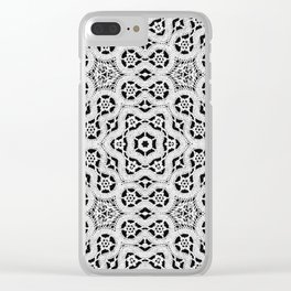 Silver Lace Pattern Clear iPhone Case