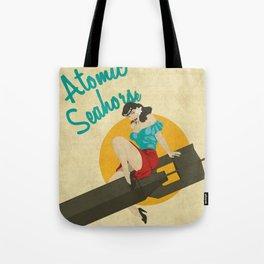 Atomic Seahorse Tote Bag