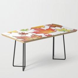 Autumn Maple Leaves Coffee Table