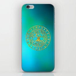Tree of life  -Yggdrasil and  Runes alphabet iPhone Skin