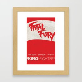 Fatal Fury Minimal: (The King of Fighters XIII teams series) Framed Art Print