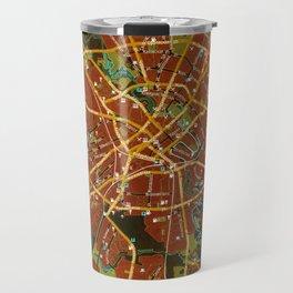 Minsk colorful map Travel Mug