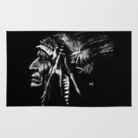 native american Area & Throw Rugs featuring Native American by Sandy Elizabeth