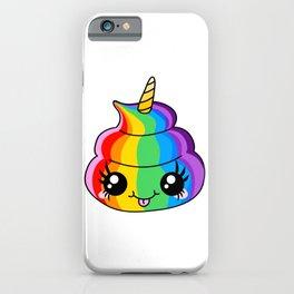 Unicorn Rainbow Poop iPhone Case