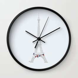 Party in Paris Wall Clock