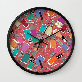 perfect nails pomegranate red Wall Clock