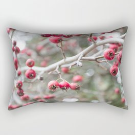 Crab Apples in the Early Winter Rectangular Pillow