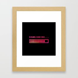 Downloading progress bar 8-bit hue Framed Art Print