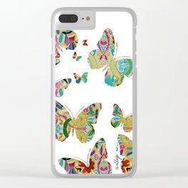 Otomi Butterflies Clear iPhone Case