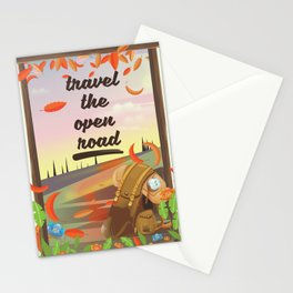 Travel the Open Road Stationery Cards