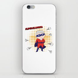 Super Grandpa iPhone Skin