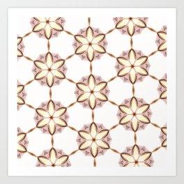 Castro kaleidoscope brilliant pattern version calm Art Print