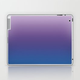Ultra Violet Blue Lilac Ombre Gradient Pattern Laptop & iPad Skin