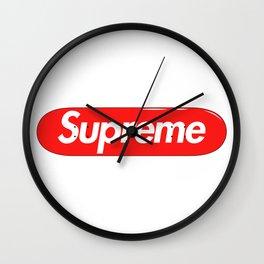 Supreme Skateboard Wall Clock