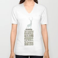 skyfall V-neck T-shirts featuring Skyfall - James Bond 007 by Rebecca McGoran