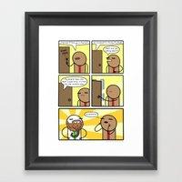 Antics #361 - the god follicle Framed Art Print