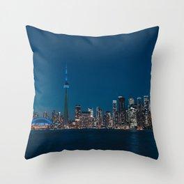 Toronto Blue Throw Pillow