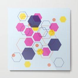 Hexagon Wonderland Metal Print