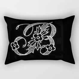 B Monogram Rectangular Pillow