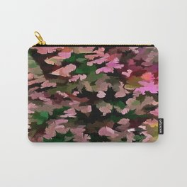 Foliage Abstract In Pink, Peach and Green Carry-All Pouch