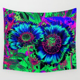 Hippie Flowers Wall Tapestry