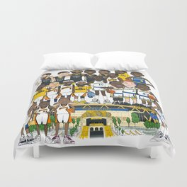 The Town Business Duvet Cover