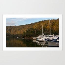 Empire Marina, Bobbin Head, Ku-ring-gai Chase National Park, Sydney Art Print