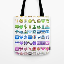 Emoji icons by colors Tote Bag