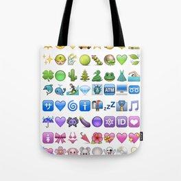 Emoji icons by colors Tote Bag