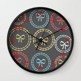Cute Bright Bows Pattern Wall Clock