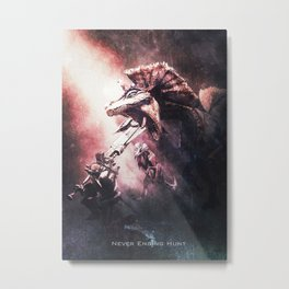 Great Jaggi of Monster Hunter Metal Print