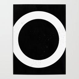 (CIRCLE) (BLACK & WHITE) Poster