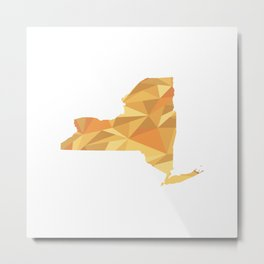 New York Pattern Map Art Metal Print