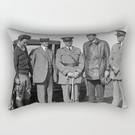 Orville Wright, John F. Curry, and Charles Lindbergh - Dayton - 1927 Rectangular Pillow