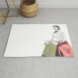 Audrey ride on Vespa Rug