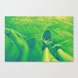 Looking down, 120-80cm, 2016, oil on canvas Canvas Print