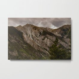 Mount Antero in the Rocky Mountain range in San Isabel National Forest in Chaffee County, Colorado, USA  Metal Print