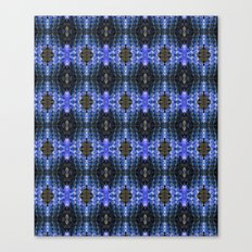 Blue Snakeskin Pattern  Canvas Print