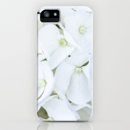 White hortensia flowers iPhone Case