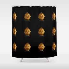 Budhha Golden Head by Lika Ramati Shower Curtain