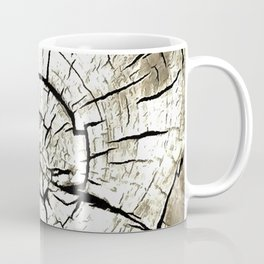 Tree Stump In Pale Grey Monotone Coffee Mug