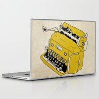 grunge Laptop & iPad Skins featuring Grunge Typewriter by Nan Lawson