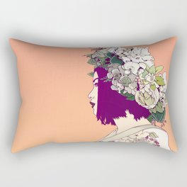 Geisha Under the Sun Rectangular Pillow