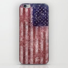 US Flag vintage worn out iPhone Skin